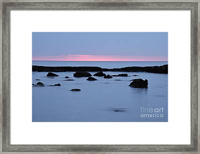 Framed Print featuring the photograph Subtle Sunrise by Larry Ricker