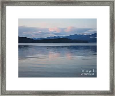 Subtle Sunset On Priest Lake Framed Print by Carol Groenen