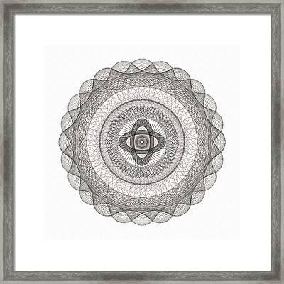 Subtle Zen Light Framed Print