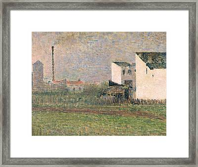 Suburb Framed Print by Georges Pierre Seurat
