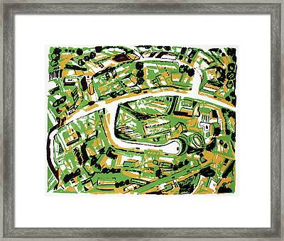 Suburb With Roads Framed Print
