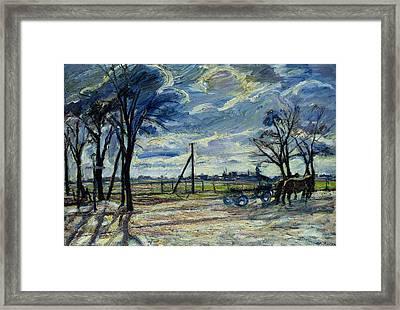 Suburban Landscape In Spring  Framed Print by Waldemar Rosler