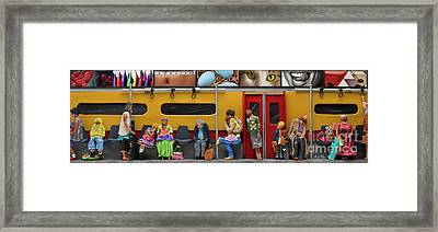 Subway - Lonely Travellers Framed Print by Anne Klar