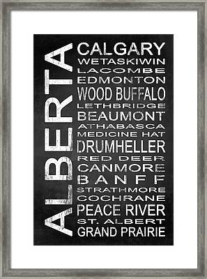 Subway Alberta Canada 1 Framed Print