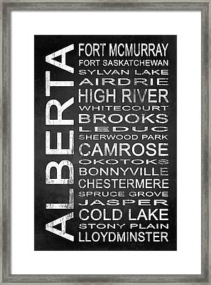 Subway Alberta Canada 2 Framed Print