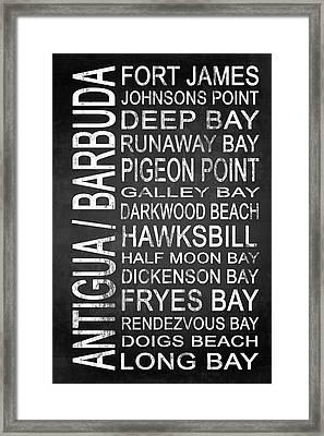Subway Antigua Barbuda 3 Framed Print