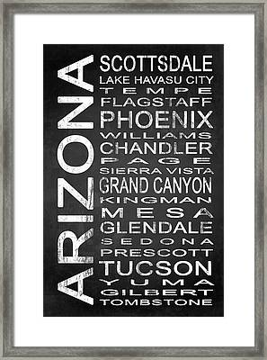 Subway Arizona State 1 Framed Print
