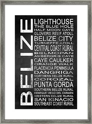 Subway Belize 1 Framed Print