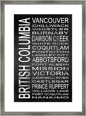Subway British Columbia Canada 1 Framed Print
