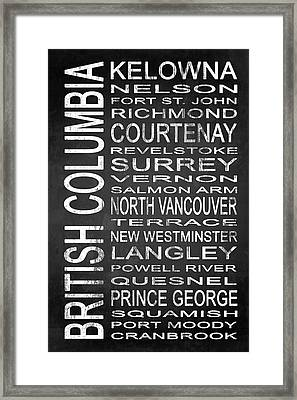 Subway British Columbia 2 Framed Print by Melissa Smith