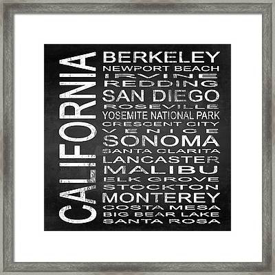 Subway California State 3 Square Framed Print