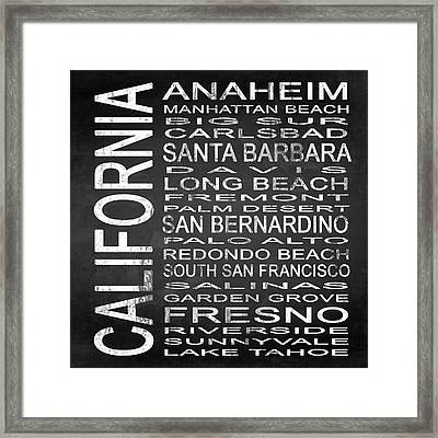 Subway California State 4 Square Framed Print by Melissa Smith