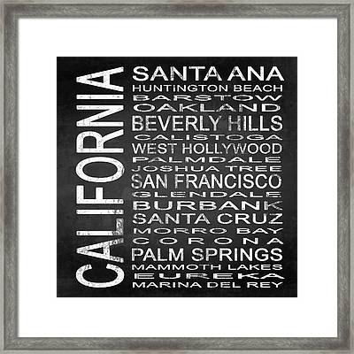 Subway California State Square Framed Print by Melissa Smith
