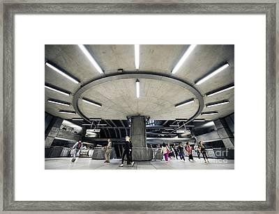 Subway Circle Crossing Framed Print by Svetlana Sewell