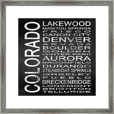 Subway Colorado State Square Framed Print