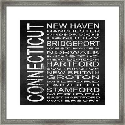 Subway Connecticut State Square Framed Print by Melissa Smith