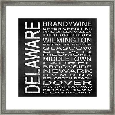 Subway Delaware State Square Framed Print by Melissa Smith