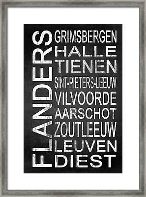 Subway Flanders Belgium 4 Framed Print