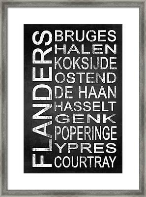 Subway Flanders Belgium 5 Framed Print