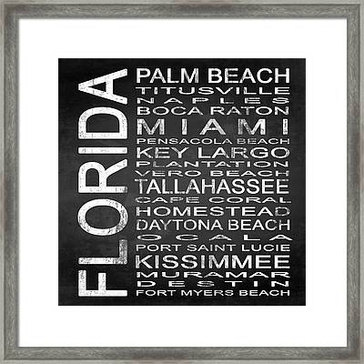 Subway Florida State 2 Square Framed Print by Melissa Smith