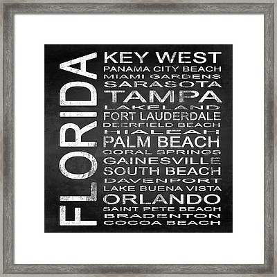 Subway Florida State 3 Square Framed Print
