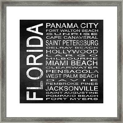 Subway Florida State Square Framed Print