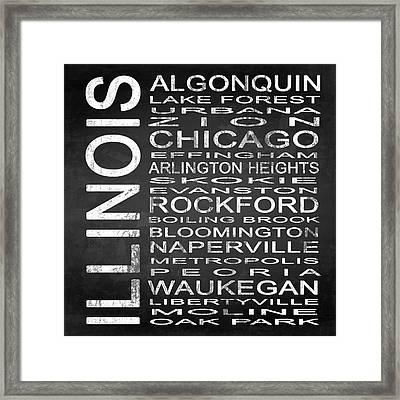 Subway Illinois State Square Framed Print by Melissa Smith