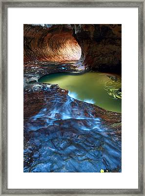 Subway In Zion National Park Utah Framed Print