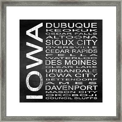 Subway Iowa State Square Framed Print by Melissa Smith