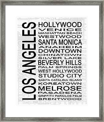 Subway Los Angeles 1 White Framed Print