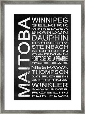 Subway Manitoba Canada 1 Framed Print