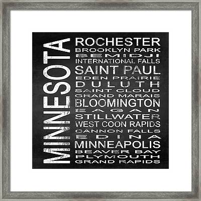 Subway Minnesota State Square Framed Print