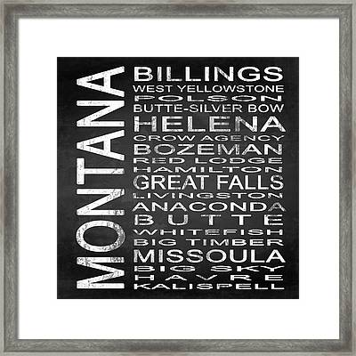 Subway Montana State Square Framed Print by Melissa Smith