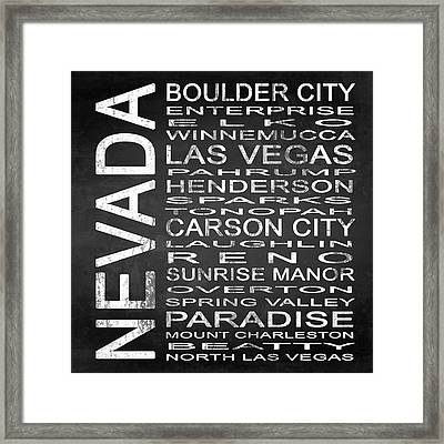 Subway Nevada State Square Framed Print by Melissa Smith