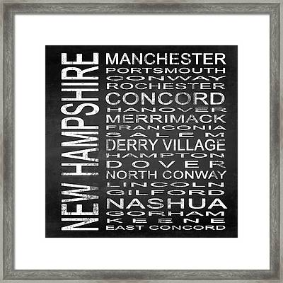 Subway New Hampshire State Square Framed Print by Melissa Smith