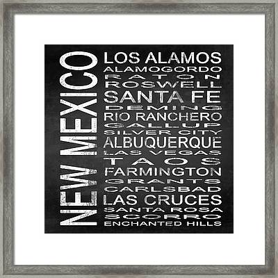 Subway New Mexico State Square Framed Print by Melissa Smith