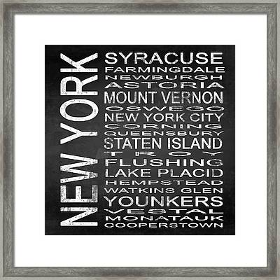 Subway New York State 2 Square Framed Print by Melissa Smith