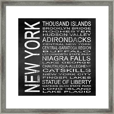 Subway New York State 4 Square Framed Print