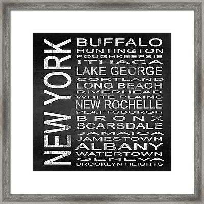 Subway New York State Square Framed Print