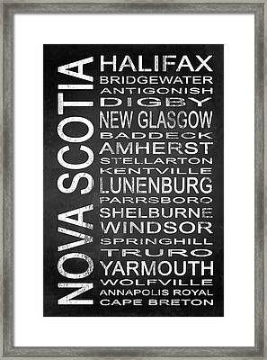 Subway Nova Scotia Canada 1 Framed Print by Melissa Smith