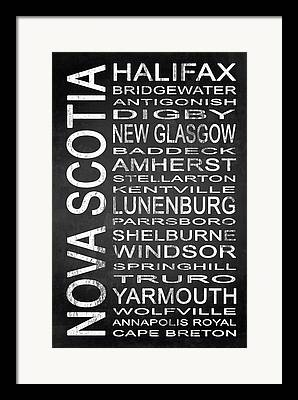 Halifax Digital Art Framed Prints
