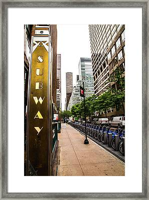 Subway Nyc Framed Print by Karol Livote