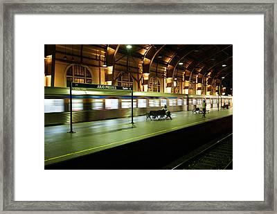 Subway Of Sao Paulo Framed Print