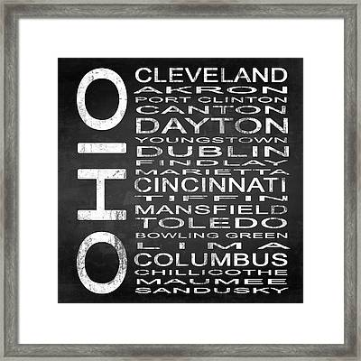 Subway Ohio State Square Framed Print by Melissa Smith