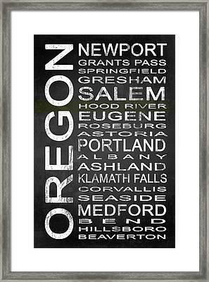 Subway Oregon State 1 Framed Print