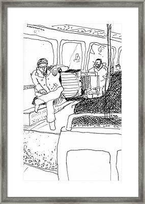 Subway Ride Framed Print