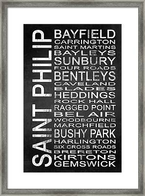 Subway Saint Philip Barbados 1 Framed Print by Melissa Smith