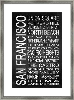 Subway San Francisco 3 Framed Print