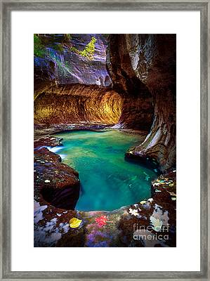Subway Sanctum Framed Print by Inge Johnsson