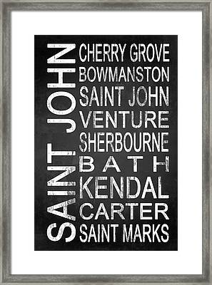 Subway Saint John Barbados 1 Framed Print by Melissa Smith